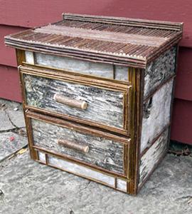 Item# 412 - Birch Nightstand-2 drawer