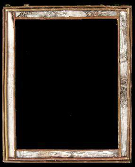 Item # 866- Traditional Birch Bark Frame