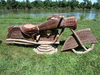 """Item# 922 - """"The Chief""""  Willow Motorcycle"""