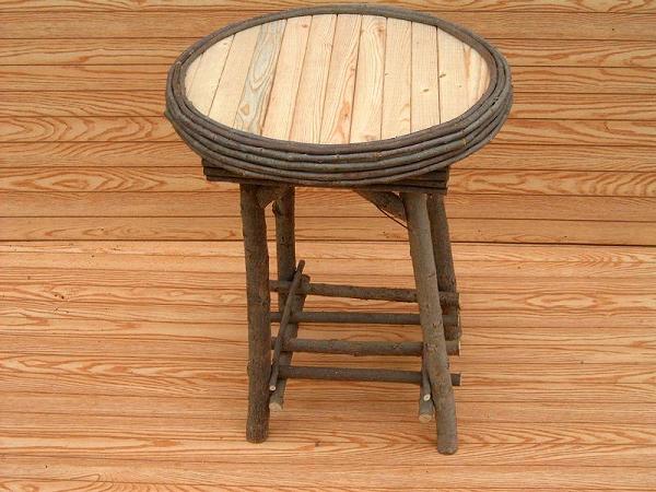 Item# 241-A,B -Elegant Slat Round Table