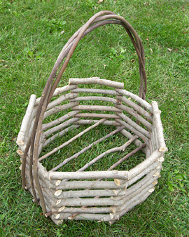 Item# 503 - Octagonal Basket with Straight Sides