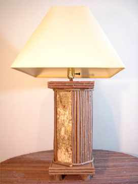 Item# 605 – Birch View Twig lamp