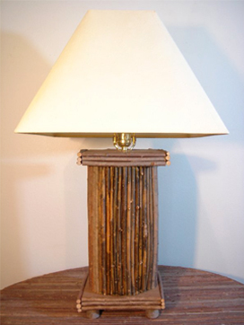 "Item# 615 - ""Greek Pillar"" Twig Lamp"